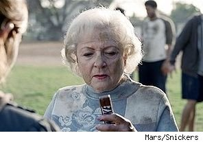 Betty White in Snickers ad 'Game'