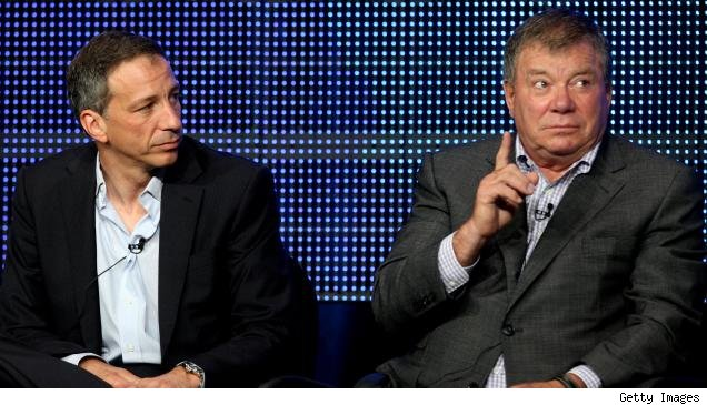David Kohan and William Shatner on the 'Bleep My Dad Says' TCA panel