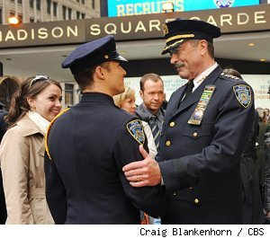 Tom Selleck, Donnie Wahlberg, and Will Estes in 'Blue Bloods' on CBS