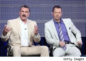 Tom Selleck and Donnie Wahlberg on CBS's ' Blue Bloods' panel at the Summer 2010  TCAs