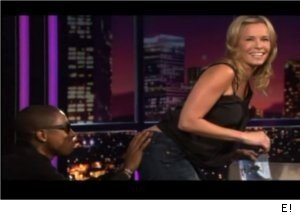 Pharrell Flirts with Chelsea Handler, Grabs Her Butt