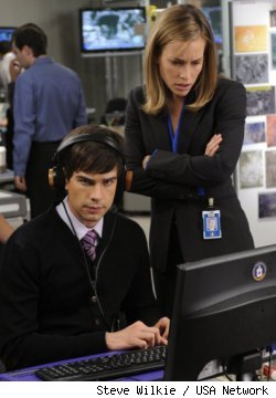 Chris Gorham and Piper Perabo in 'Covert Affairs' on USA Network