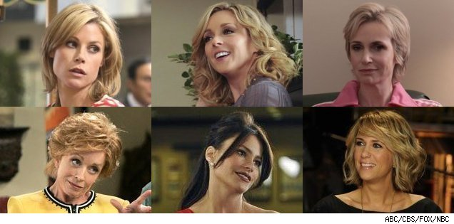 Julie Bowen, Jane Krakowski, Jane Lynch, Holland Taylor, Sofia Vergara, Kristen Wiig - Emmy nominees for best suppoting comedy actress