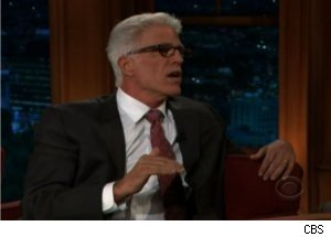 Ted Danson Talks Larry David on 'Late Late Show'