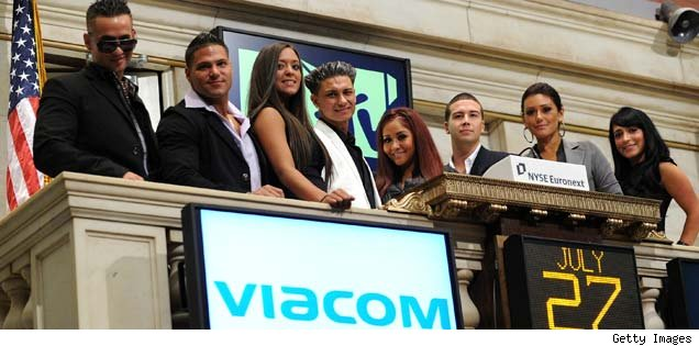 Jersey Shore cast at NYSE