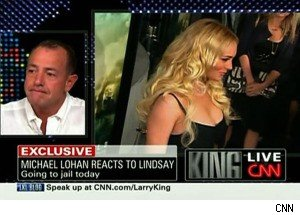 Lindsay Lohan's Dad Reacts to Her Being Sent to Jail