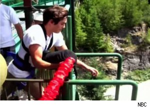 Zac Efron Goes Bungee Jumping