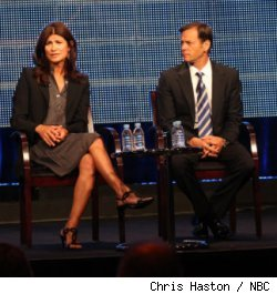 Angela Bromstad and Jeff Gaspin at NBC exec session at Summer '10 TCA
