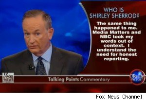 Bill O'Reilly apologizing to Shirley Sherrod