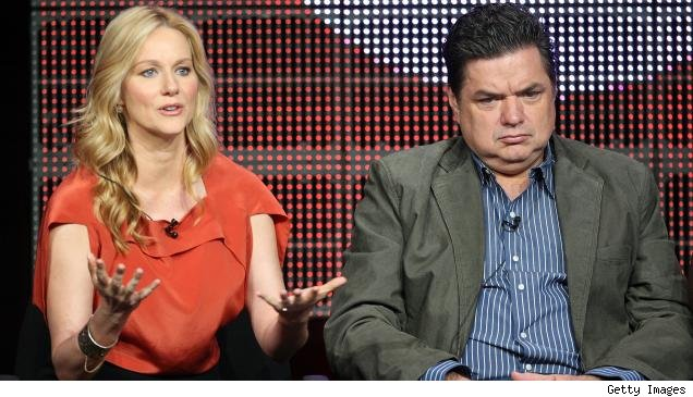 Laura Linney and Oliver Platt on the TCA panel for 'The Big C' on Showtime