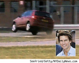 Tom Cruise in the reasonably priced car on BBC's