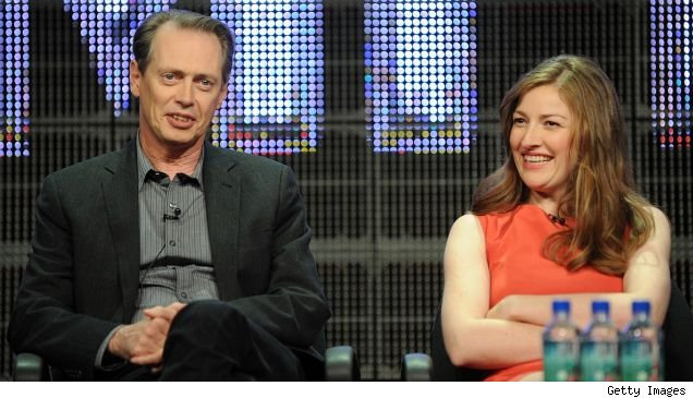 Steve Buscemi and Kelly Macdonald on the 'Boardwalk Empire' panel at the summer 2010 TCAs