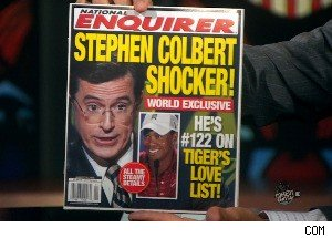 STEPHEN COLBERT SHOCKER in the 'National Enquirer' (Sort of)