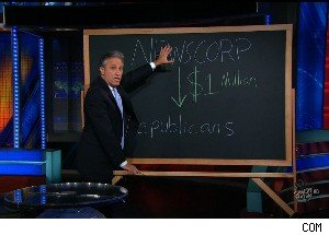 Jon Stewart Attacks Fox News ... For Giving $1 Million to the Republican Party