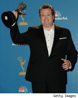 Eric Stonestreet of 'Modern Family' after winning a 2010 Emmy for Best Supporting Actor in a Comedy