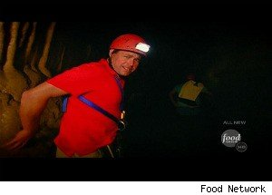 Dropping Into a Cave to Chase Angry Eels on 'Extreme Cuisine'
