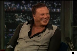 Mickey Rourke Talks 'Diner' Popcorn Scene on 'Late Night'
