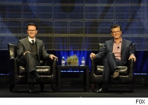 Peter Rice and Kevin Reilly at the FOX executive session at the Summer 2010 TCAs