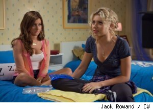 Ashley Tisdale and Aly Michalka in 'Hellcats' on CW