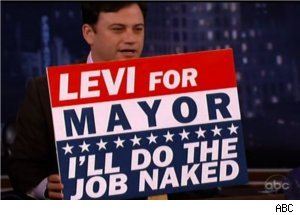 Jimmy Kimmel Offers Campaign Slogans to Levi Johnston