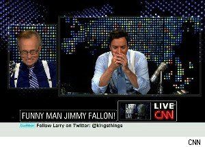 Could Jimmy Fallon Replace Larry King? No, But He Gives It a Shot