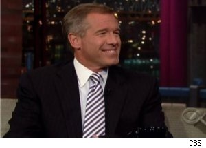 Brian Williams Visits 'Late Show'