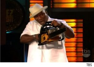 Ving Rhames Threatens George Lopez with Chainsaw