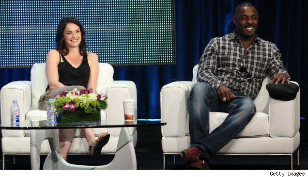 Ruth Wilson and Idris Elba at the 'Luther' panel at the Summer 2010 TCAs