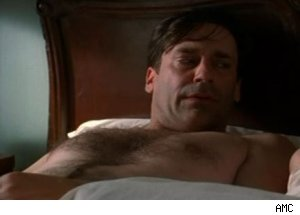 Don wakes up after a bender on 'Mad Men' - 'Waldorf Stories'