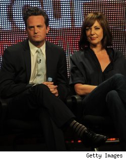 Matthew Perry and Allison Janney in the 'Mr. Sunshine' panel at the Summer 2010 TCAs