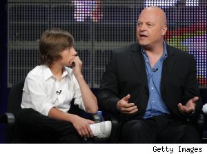 Jimmy Bennett and Michael Chiklis at the 'No Ordinary Family' panel at the Summer 2010 TCAs