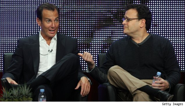 Will Arnett and Mitch Hurwitz during the 'Running Wilde' session at the Summer 2010 TCAs