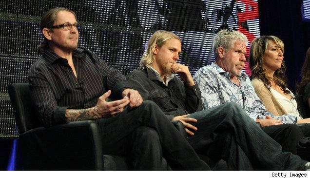 Kurt Sutter, Charlie Hunnam, Ron Perlman, and Katey Sagal on the 'Sons of Anarchy' TCA Panel