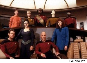The first season cast of 'Star Trek: The Next Generation'