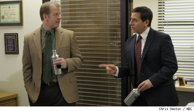 Paul Lieberstein and Steve Carell in 'The Office' - 'Sabre'