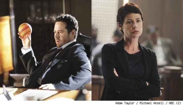 Rob Morrow and Maura Tierney in 'The Whole Truth' on ABC