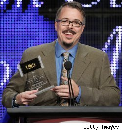Vince Gilligan accepts the TCA Award for Outstanding Achievement in Drama for 'Breaking Bad'