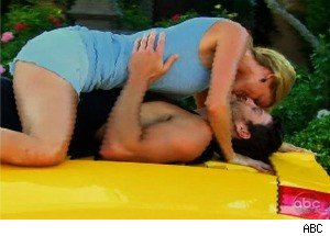 'Bachelor Pad': Kovacs and Elizabeth Mess Around on the Top of a Car