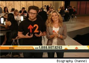 Seth Rogen, Elizabeth Banks on 'Stand Up To Cancer'