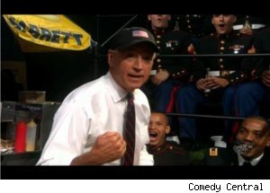 Joe Biden Visits Soldiers on 'Colbert Report'