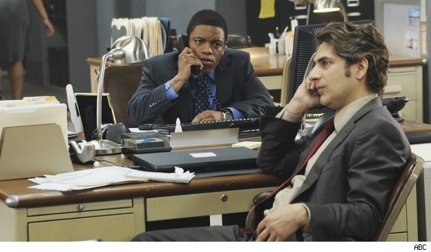 MIchael Imperipoli and Jon Michael Hill in 'Detroit 1-8-7'