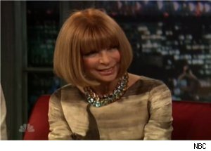 Anna Wintour Talks Lada Gaga on 'Late Night'