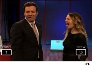 Jimmy Fallon, Drew Barrymore Play Game on 'Late Night'