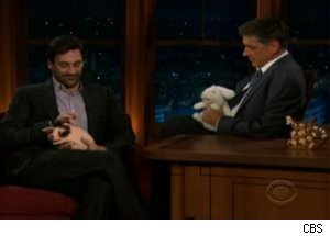 Jon Hamm Talks Flaubert on 'Late Late'