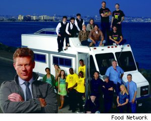 Tyler Florence and the contestants of 'The Great Food Truck Race'
