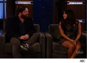 Snooki Kisses Zach Galifianakis on 'Kimmel'