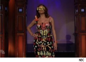 Kate Walsh Wears Sushi Dress on 'Tonight Show'