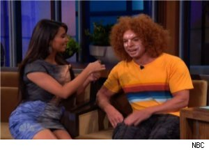 Kim Kardashian and Carrot Top Visit 'Tonight Show'