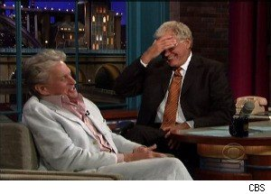 Michael Douglas Discusses Cancer Diagnosis With Letterman