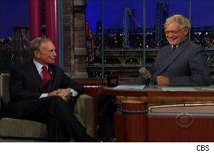 NYC Mayor Michael Bloomberg Wants David Letterman's Job